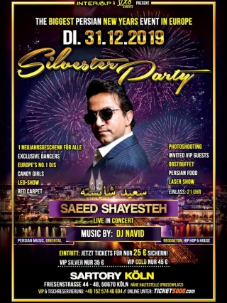 saeed-shayesteh-live-in-köln-31.12.2019, Tizo Ticketing, Online Ticket, Persian Event Germany, Persian Event Frankfurt, Persian Event Berlin, Persian Event Hamburg, Persian Event Düsseldorf, Persian Event Köln, Persian Party Germany, Persian Party Frankfurt, Persian Party Berlin, Persian Party Hamburg, Persian Party Düsseldorf, Persian Party Köln, Persian Concert Germany, Persian Concert Frankfurt, Persian Concert Berlin, Persian Concert Hamburg, Persian Concert Düsseldorf, Persian Concert Köln, Persisches Konzert Germany, Persisches Konzert Frankfurt, Persisches Konzert Berlin, Persisches Konzert Hamburg, Persisches Konzert Düsseldorf, Persisches Konzert Köln